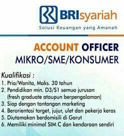 Lowongan Kerja Lampung Cv Lampung Service Lowongan Kerja Bank Bri Syariah Bandar Lampung Pendidikan Marketing Keuangan