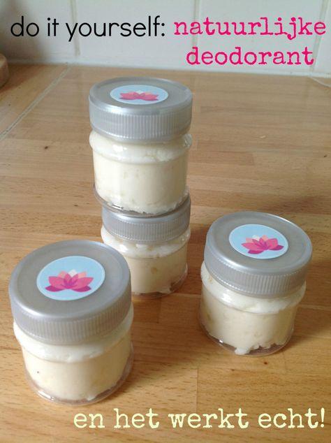 deodorant zelf maken met balling soda, kokosolie, etherische olie.