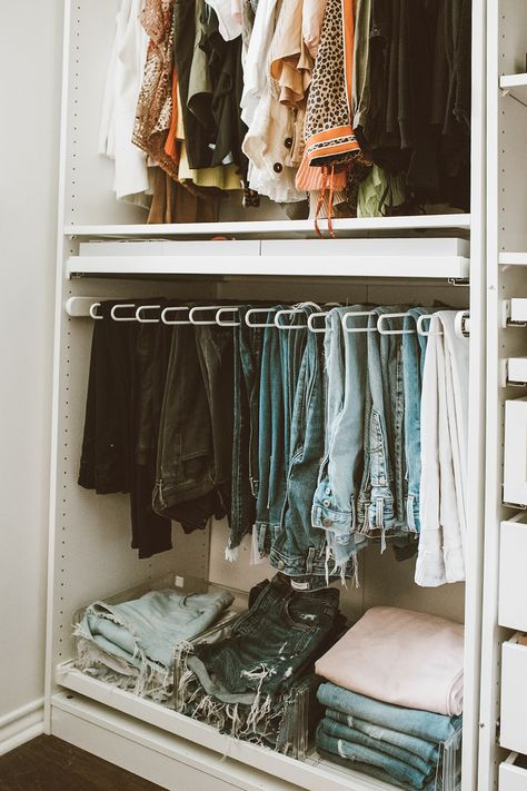 We transformed one of our spare bedrooms into a cloffice and it turned out to be so dreamy! Giving you all the closet inspo in this post! Bedroom Closet Design, Room Ideas Bedroom, Bedroom Wardrobe, Closet Designs, Home Decor Bedroom, Master Closet, Master Bedroom, No Closet Solutions, Ikea Closet