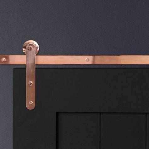 Pinnacle Copper Hardware For Sliding Barn Doors Artisan Hardware Barn Door Hardware Hanging Barn Doors Sliding Barn Door Hardware