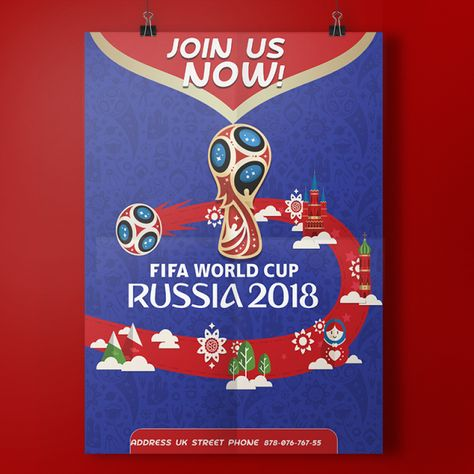 Fifa World Cup Russia 2018 Poster World Cup Fifa Fifa World Cup