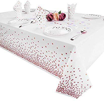 Unique Party Tableware White 108 X 54