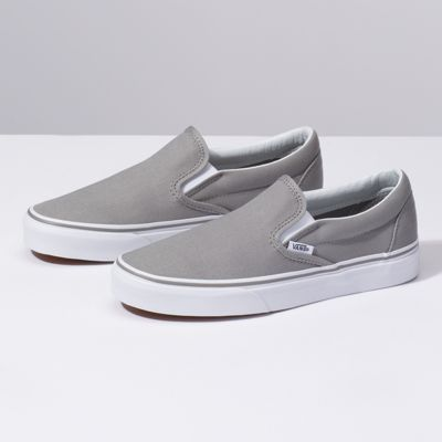 Slip On Shop Shoes With Images Classic Shoes Grey Slip On