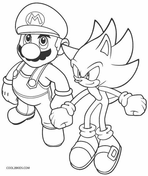 Printable Sonic Coloring Pages For Kids Cool2bkids Super Mario Coloring Pages Pokemon Coloring Pages Unicorn Coloring Pages