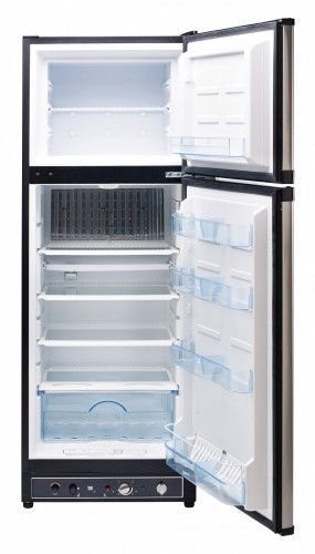 Unique Ugp 8ss Free Venting Model 2 Way Propane 110v Refrigerator Freezer In Stainless Steel 8 0 Cu Ft In 2020 Propane Propane Refrigerators Unique Appliances