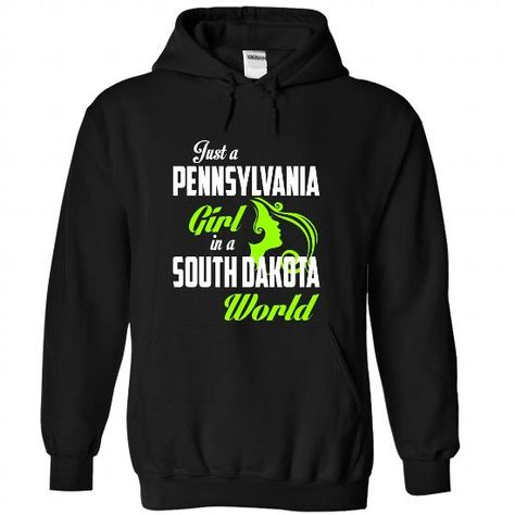 PENNSYLVANIA-SOUTH DAKOTA girl 05Lime - #custom sweatshirts #t shirt printer. LOWEST SHIPPING => https://www.sunfrog.com/States/PENNSYLVANIA-2DSOUTH-DAKOTA-girl-05Lime-Black-Hoodie.html?id=60505