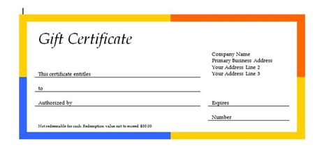 gift certificate templates are created in ms office professional