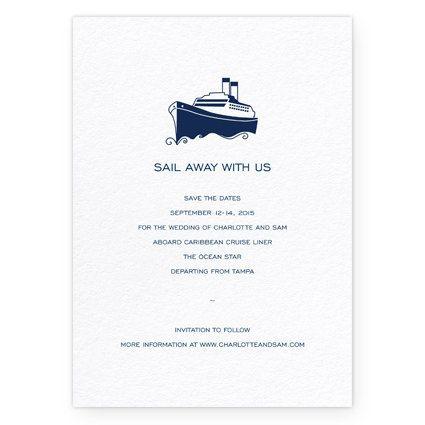 Cruise Wedding Invitation Wording