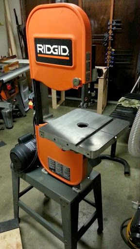 Ridgid Bs14002 Bandsaw Upgrading To Pass The Nickel Test By Grizzlybagworks Lumberjocks Com Woodworki Bandsaw Adirondack Chair Plans Woodworking Saws