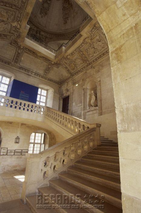 Le Chateau De Blois Escalier Interieur De L Aile Gaston D