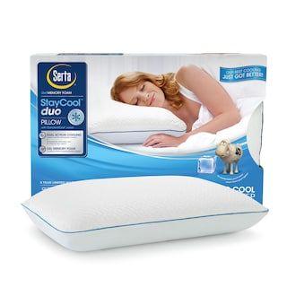 serta staycool gel memory foam pillow
