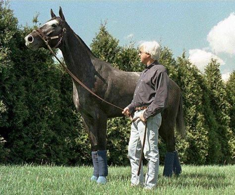 Back in the day Bob Baffert with Silver Charm