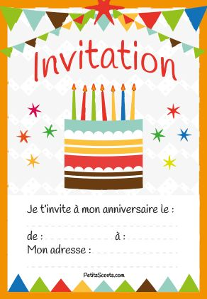 Favorit carte-invitation-anniversaire-enfant-gratuite | Pinata ideas  TL65
