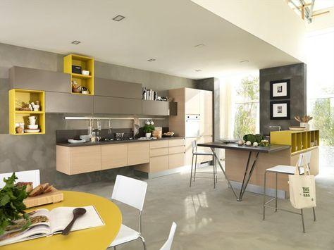 Youthful kitchen LINDA by Cucine Lube   LO Board   Loft ...