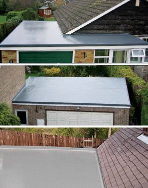 GRP Roofing To Garage Roof In Manchester, A Complete Transformation Of This Garage  Flat Roof Is Achieved With A Waterproof Life Long Solution.