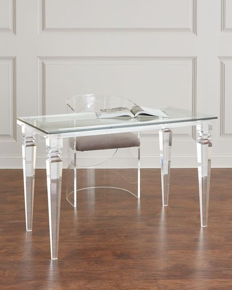 Interlude Home Christelle Acrylic Writing Desk Home Office