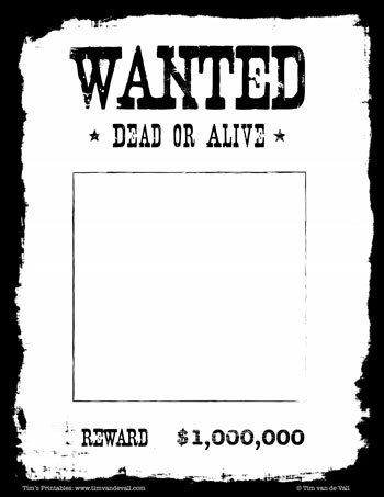 Wanted Poster Template Black White Poster Template Black