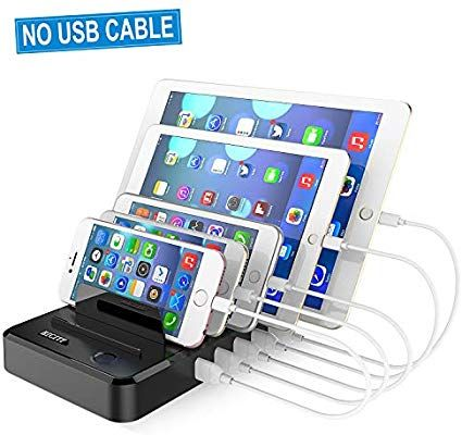 Amazon Com Cell Phone Charging Station Dock For Multiple Devices
