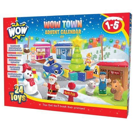 Wow Town Christmas Advent Calendar 24 Pc Play Set Toy Advent