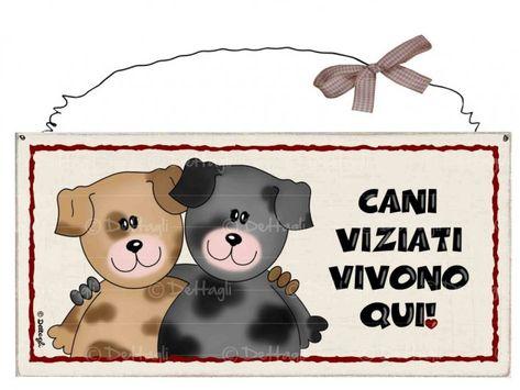Attenti al Cane TARGA IN TERRA COTTA articolo artigianale