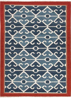 Jaipur Rugs Anatolia Sultan At03 Smoke Blue Red Area Rug Red Tribal Rugs Flat Weave Wool Rug Area Rugs
