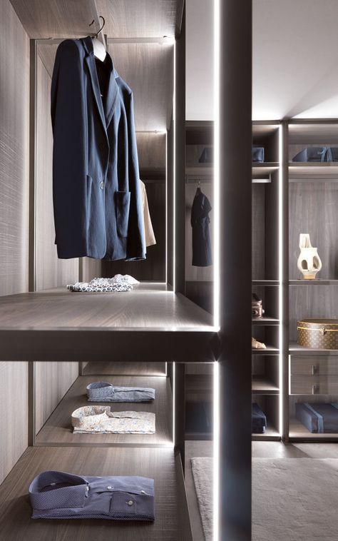Cabina armadio moderna / in legno / con porta battente / di ...