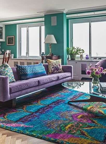 20 Dreamy Apartments Nyc Designers Are Obsessed With Purple Living Room Colourful Living Room Turquoise Living Room Decor