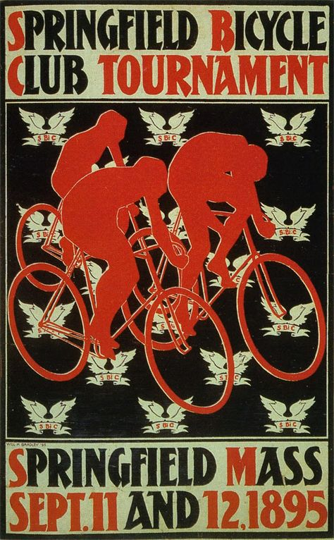 1880s Springfield Bicycle Club Vintage Style Cycling Poster 18x24