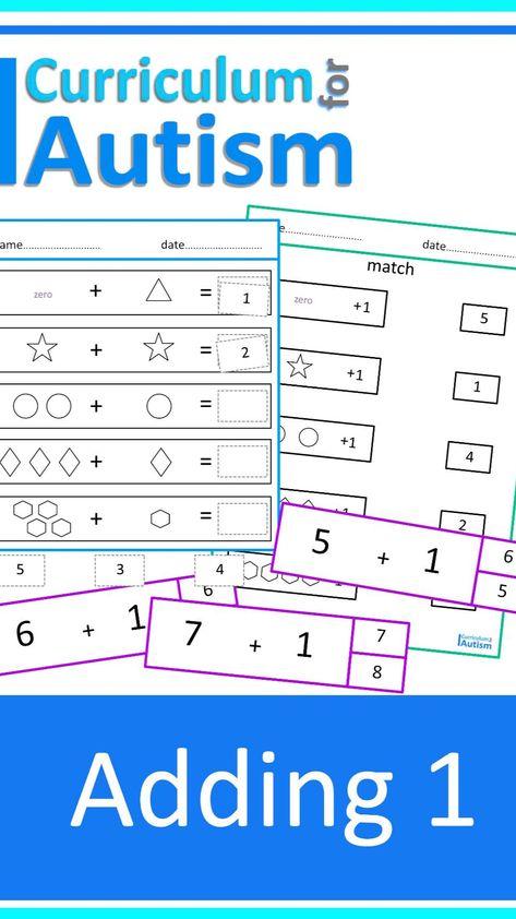 Addition 1-20 Autism Classroom Math Activities