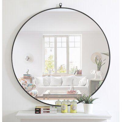 Mercury Row Yedinak Accent Mirror, What Size Round Mirror For A 48 Vanity