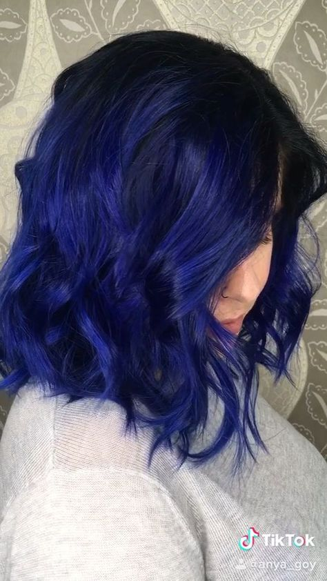 Midnight Blue Hair Color