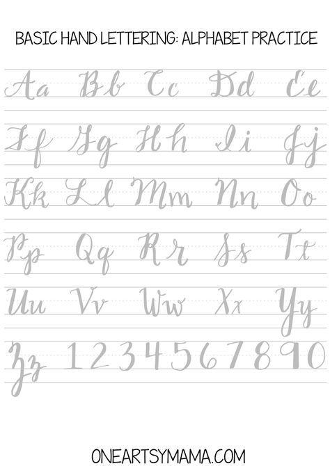 Calligraphy Practice2 Pdf Abecedario Caligrafia Plantillas