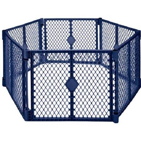 North States Navy Two Panel Superyard Play Pen Extension for Baby Playard Safety