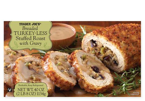 Breaded Turkey-less Stuffed Roast with Gravy