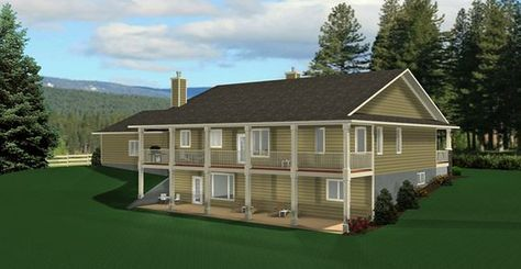 Ranch Style Bungalow With Walkout Basement A Well Laid Out Home With Everything That A Country Basement House Plans Ranch House Plans Ranch House Floor Plans