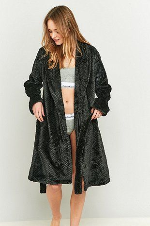 Calvin Klein Black Fluffy Dressing Gown | Stuff I Want/Just Stuff ...