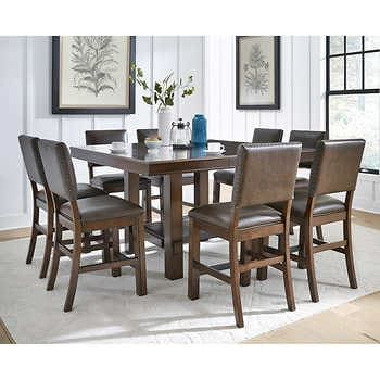 Stefan 9 Piece Counter Height Dining Set In 2021 Counter Height Dining Sets Affordable Dining Room Sets Dinning Room Sets 9 pc dining room table sets
