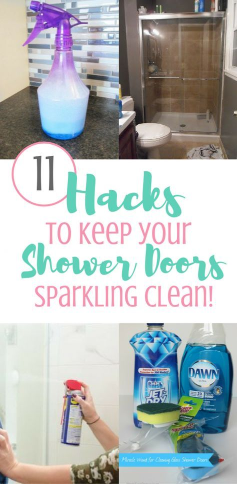 11 Brilliant Hacks To Clean Glass Shower Doors Shower Doors Clean Shower Doors Shower Cleaner