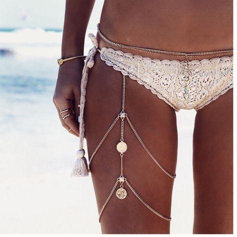 "1,046 Likes, 5 Comments - GypsyLovinLight_Shop (@gypsylovinlight_shop) on Instagram: ""Summer days in the Nishka leg chain 🐚🌊📸 @bobbybense #gypsylovinlight_shop #bodyjewelry"""