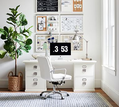 Bedford Corner Desk With Drawers In 2020 Home Office Chairs Pottery Barn Office Home Storage Solutions