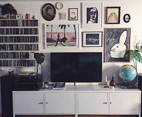 Two Ikea Ps 2012 Cabinets Studio Lagenhet Inredning Vardagsrum