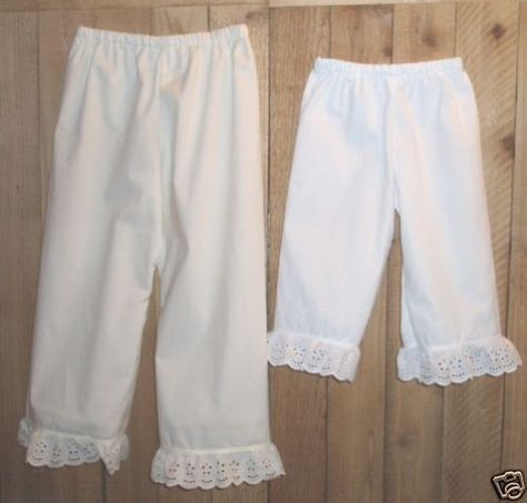 Costume Pioneer Trek Clothing Bloomers ~White Pantaloons~Adult X Large Free Ship