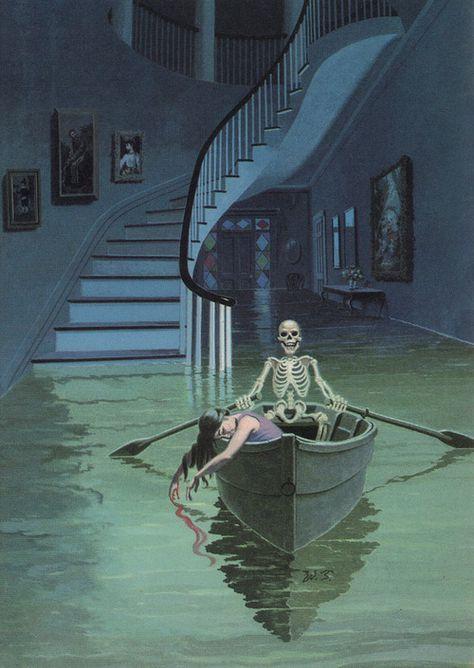 The Case of Jennie Brice by Mary Roberts Rinehart Creepy Art, Weird Art, Arte Horror, Horror Art, Aesthetic Art, Aesthetic Pictures, Arte Robot, Vintage Horror, Art Graphique