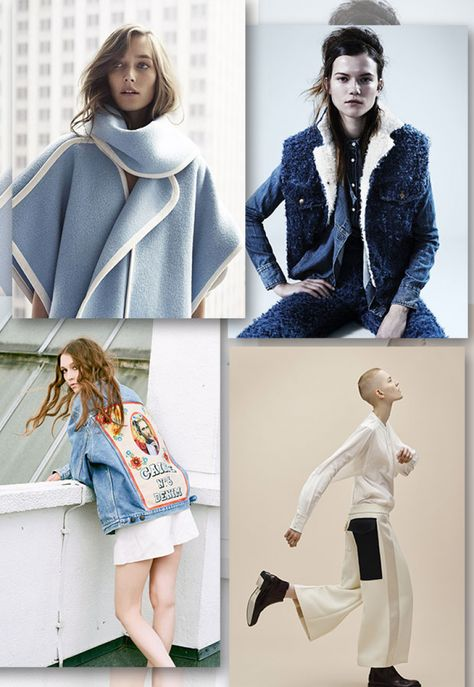 Denim fashion trends forecasting AW1718   flat drawings and product developments by 5forecastore