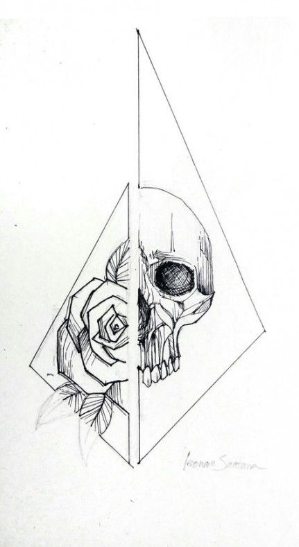 Best Tattoo Ideas Skull Roses Flower Ideas Skulls Drawing Line Art Tattoos Skull Tattoo Design