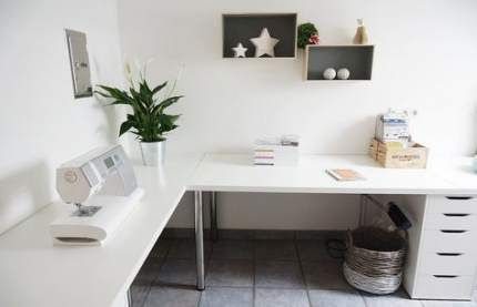 38 Trendy Craft Room Desk Ideas Drawers Ikea Home Office Office Desk Designs Diy Corner Desk