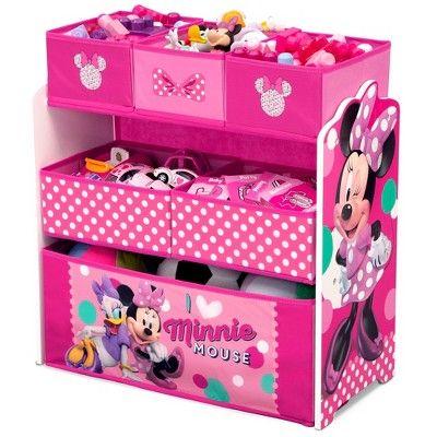 Minnie Mouse Kids Multi Bin Toy Organizer Disney Toy Storage
