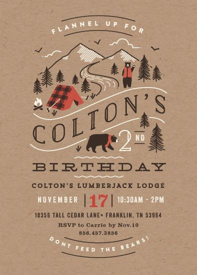 emily camp design- design fancy Camping Party Invitation Party - fresh birthday invitation of my son