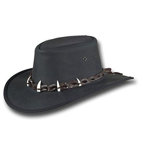 Barmah Hats Outback Crocodile Leather Hat - Item 1033 | Jodyshop