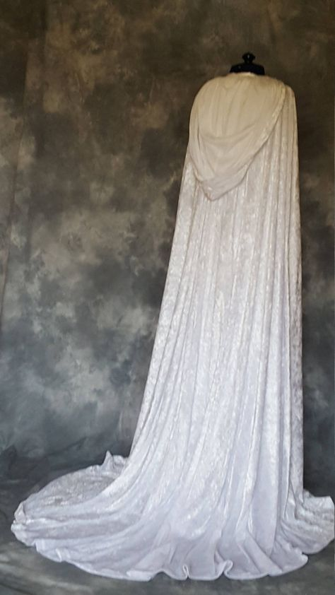 Medieval Cloak and DressHandfasting Dress and CloakElvishRenaissancePaganPre RaphaeliteCustom Made Wedding Gown and Cloak Elvish Wedding, Wiccan Wedding, Viking Wedding, Medieval Wedding, Geek Wedding, Gothic Wedding, Hobbit Wedding, Wedding Ideas, Pagan Wedding Dresses